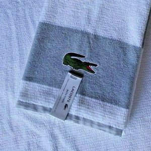 LACOSTE Match 100% Cotton Bath Towel BIG Croc NWT